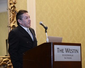Neurosurgeon David Jimenez was the luncheon speaker at the Traffic Safety Conference.